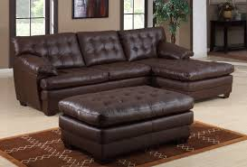 All Leather Sofas Homelegance 9817 All Leather Sectional Sofa Brown 9817brw L