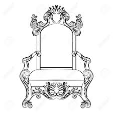 Throne Style Chair Baroque Luxury Style Furniture Chair Throne With Luxurious Rich
