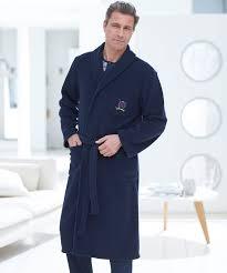 robe de chambre hommes robe de chambre en polaire 120 cm marine homme damartsport