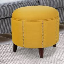 Orange Storage Ottoman Comfortable Yellow Storage Ottoman House Plan And Ottoman