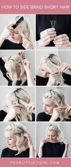 how to braid short hair step by step hair tutorial step by step how to side braid short hair
