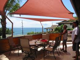Outdoor Solar Shades For Patios Shade Sails Great Idea For The Patio Love The Pop Of Color Too