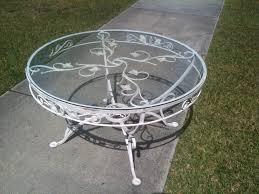 Cast Iron Patio Set Table Chairs Garden Furniture - wrought iron patio side table outdoor patio tables ideas