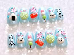 nails deco nails 3d nails onigiri kawaii food kanji by aya1gou