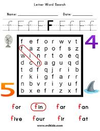 lettersf j activities games and worksheets for kids