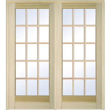 mmi door 62 in x 81 75 in classic clear glass 15 lite unfinished classic clear glass 15 lite unfinished poplar wood