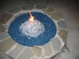Fire Glass Fire Pit by Ford Blue Fireglass