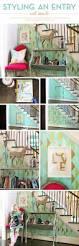 Entryway Wall Symmetry Allover Stencil Stenciled Entryway Diy Idea Jpg