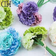 Artificial Flower Decorations For Home Dh Carnation Artificial Flower Bouquet Flowers For Sale Bouquet