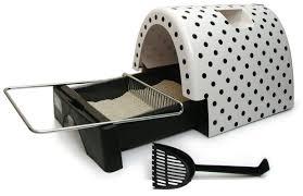 kittyagogo designer cat litter box with polka dot cover u0026 reviews