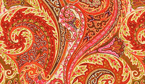 Upholstery Linen Fabric By The Yard Fabric On Sale Orange Linen Paisley Upholstery Fabric By The