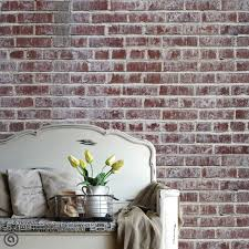 temporary wall paper peel and stick wallpaper distressed brick removable self