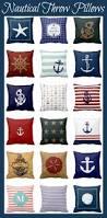 Nautical Home Decorations Nautical Throw Pillows For A Fun Beach Or Nautical Home Decor