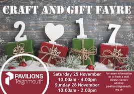 christmas craft and gift fayre pavilions teignmouth