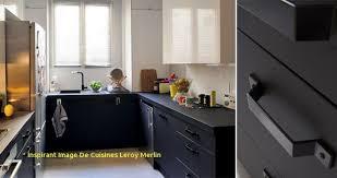 cuisines leroy merlin delinia meuble de cuisine noir delinia mat edition inspirant image de