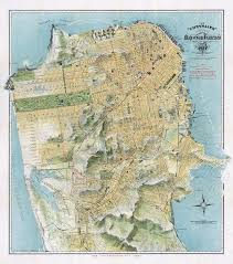 San Francisco Transportation Map by 1912 Chevalier Map Of San Francisco U2013 Transit Maps Store
