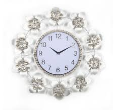 buy floral delight crystal wall clock home by nilkamal online