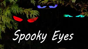 scary halloween sign how to make spooky halloween eyes youtube