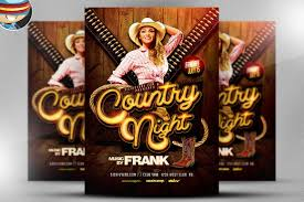 template flyer country free country night western flyer template on behance
