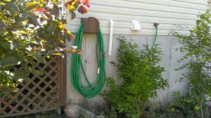 Garden Hose Hanger With Faucet Garden Hose Hanger From Scrap Wood Youtube