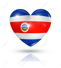 Flag Costa Rica Love Costa Rica Symbol 3d Heart Flag Icon Isolated On White Stock