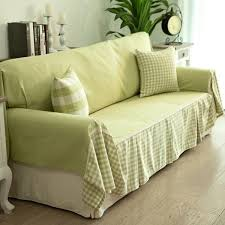 Cheap DIY Sofa Cover Ideas Green Fabrics Decorative Pillows - Sofa cover designs