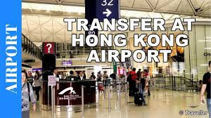hong kong airport transit from north satellite concourse to