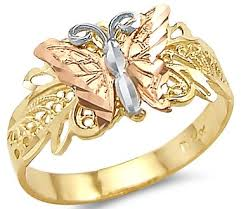 rings butterfly images 14k tri color yellow white and rose gold butterfly jpg