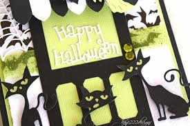 halloween background family halloween door with lisa blastick cheery lynn designs