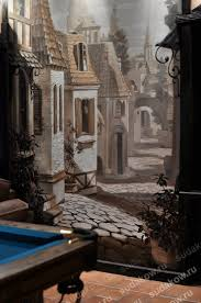3d Murals by Beautiful 3d Wall Mural Featuring A Street In An Old European Town