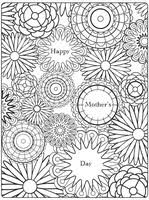 coloring pages mother u0027s day