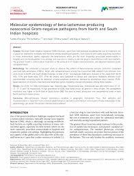 microbiology society journals molecular epidemiology of beta