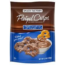 pretzel delivery snack factory milk chocolate crunch pretzel crisps 5 5oz target