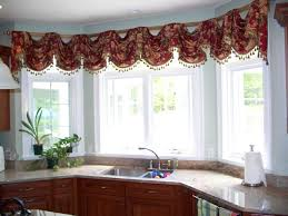 Large Window Curtain Ideas Designs Kitchen Attractive Cool Kitchen Bay Window Curtain Ideas Using