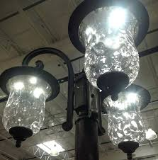 Innova Lighting Led 3 Light Outdoor L Post 3 Light L Post And Lighting Led 3 Light Outdoor L Post