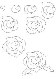 how to draw a quick flower sketch of a rose photo arst info