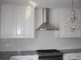 interior glass subway tile backsplash white cabinets white
