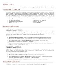 Sample Of Executive Assistant Resume by Administrative Assistant Resume Services Goals For Staff Resume