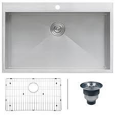 X Kitchen Sink - ruvati rvh8000 drop in overmount 33