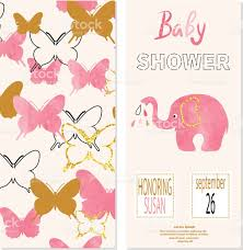 Invitation Card Baby Shower Baby Shower Vector Invitation Card Design Stock Vector Art