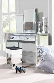mirrored console vanity table aphrodite 2 leg mirrored dressing table with crystal accent handles