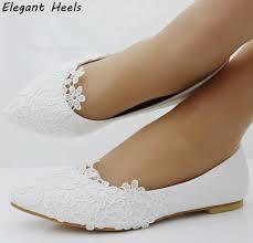 wedding shoes flats aliexpress buy fashion ballet flats white lace wedding shoes