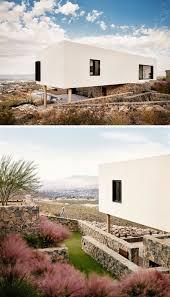 modern desert home design this house overlooks a desert landscape from a hillside in texas