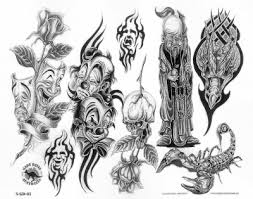 drawings of gangster jokers evil clown tattoos designs and