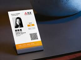 id card graphic design staff id card for dongdao design on behance