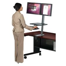 Sit To Stand Desk by Up Rite Desk Mounted Sit And Stand Workstation Mooreco Education