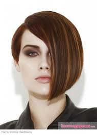 short haircuts edgy razor cut brownw highlights long one side short one side makeup hair and