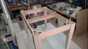 How To Make Your Own Dining Room Table Building A Dining Room Table Out Of Red Oak Youtube