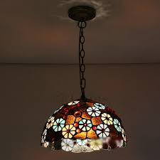 Stained Glass Pendant Light Hardware Fixture Stained Glass Beautiful Floral Pendant Lights