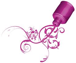 nail logo template nail salon logo design vector nail salon logo